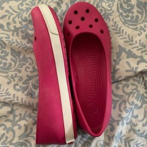 Pink Crocs Flats